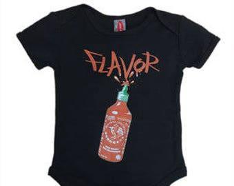 Flavor Black Hot Sauce Baby Onesie