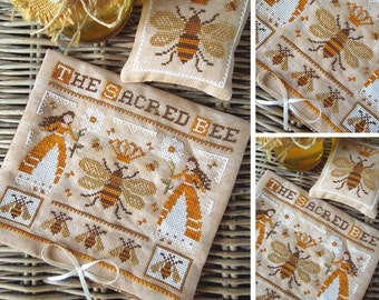 The Sacred Bee - PDF DIGITAL Cross Stitch Pattern