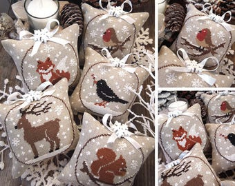 Winter Animals - PDF DIGITAL Cross Stitch Pattern