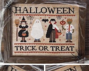 Trick or Treat - Halloween Masquerade - PDF DIGITAL Cross Stitch Pattern