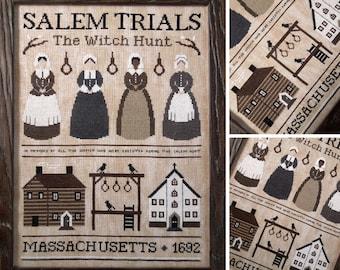 Salem Trials - The Witch Hunt - PDF DIGITAL Cross Stitch Pattern