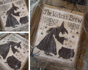 The Witch's Brew - PDF DIGITAL Cross Stitch Pattern