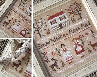 Snow White and Rose Red - A Grimm's Fairytale - PDF DIGITAL Cross Stitch Pattern