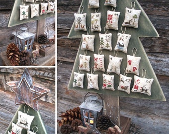 Fairytale Advent Calendar - PDF Digital Cross Stitch Pattern