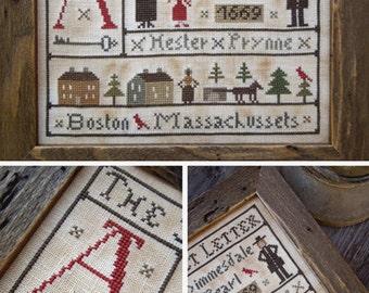 The Scarlet Letter - PDF Digital Cross Stitch Pattern