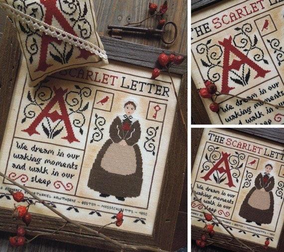 the scarlet letter pdf digital cross stitch pattern