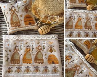Melissae, The Beekeepers - PDF Digital Cross Stitch Pattern
