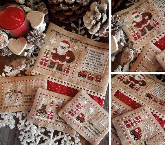Briefe An Den Weihnachtsmann Pdf Digitale Kreuz Muster Etsy