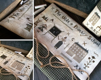 The Old Primary School - Little Primitives Series - PDF Digital Cross Stitch Pattern