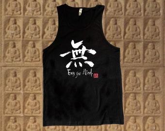 Empty Your Mind 無 Kanji Unisex Tank tops