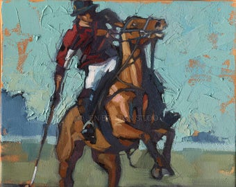 Polo Art Horse Painting - Alla Prima Painting