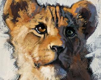 Lion Cub Art Fine Art Print