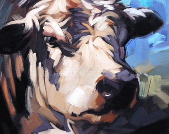 That's Alotta Bull Oil Painting