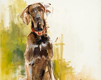 Pet Portrait Giclée Fine Art Print