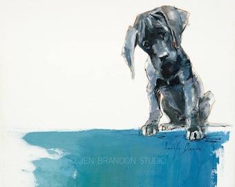 Puppy Portrait Giclée Fine Art Print