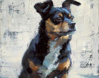 Chihuahua Dog Portrait Giclée Fine Art Print