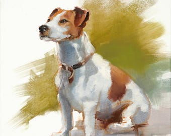 Jack Russel Dog Portrait Giclée Fine Art Print