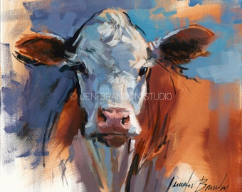 Cow Portrait 1 Giclée Fine Art Print