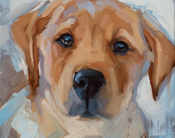 Yellow Lab Pet Portrait Giclée Fine Art Print