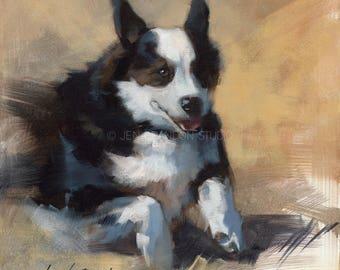 Corgi Portrait Giclée Fine Art Print
