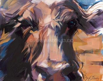 Cow Art 3 Cow Giclée Fine Art Print