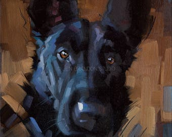 German Shepherd Pet Portrait Giclée Fine Art Print