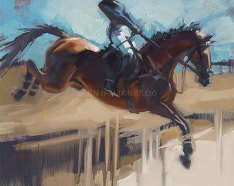 Horse Painting Jumper - Alla Prima Painting