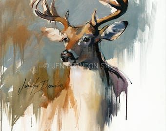 Buck White Tailed Deer Giclée Fine Art Print