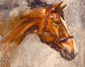 Horse Portrait Art Show Horse - Original Oil  Painting