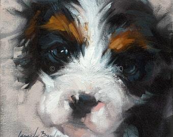 King Charles Spaniel Puppy Giclée Fine Art Print