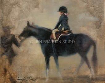 Girl and Pony Giclée Fine Art Print