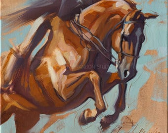 Horse Painting Show Jumper - Alla Prima Painting