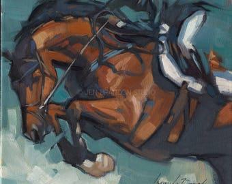 Horse Jumping Giclée Fine Art Print