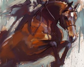 Jumper Horse Art Giclée Fine Art Print