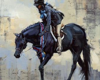 Black Horse Art Giclée Fine Art Print