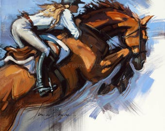 Show Horse Jumper Giclée Fine Art Print