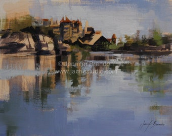 Mohonk Mountain House Lake Reflections Matted Print