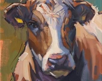 Cow Portrait Giclée Fine Art Print