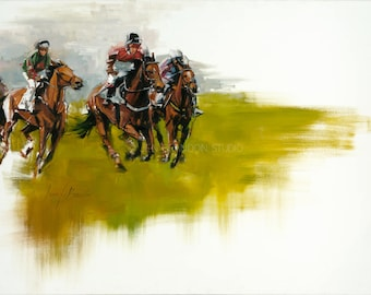 Horse Race Fine Art Print
