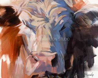 Cow Art 2 - Cow Giclée Fine Art Print
