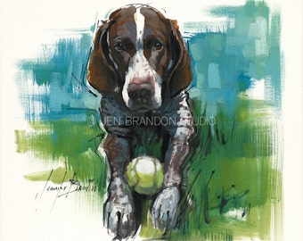German Shorthaired Pointer Giclée Fine Art Print