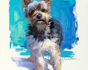 Yorkie Portrait Giclée Fine Art Print