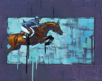 Show Jumper Horse Art Fine Art Print