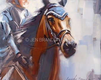 Show Horse Portrait - Original Oil  Painting