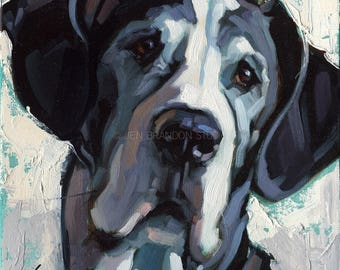 Great Dane Pet Portrait Giclée Fine Art Print