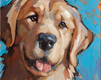 Golden Retriever Pet Portrait Giclée Fine Art Print