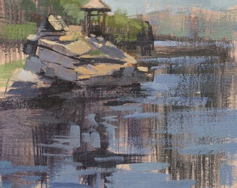 Gazebo at Mohonk - Plein Air Oil Painting by Jennifer Brandon - Jaché Studio