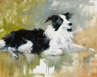 Collie Portrait Giclée Fine Art Print
