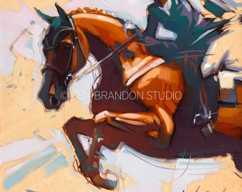 Jumper Horse Show Horse Art - Original Oil  Painting