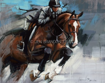 Hunter Jumper Fine Art Giclee Print